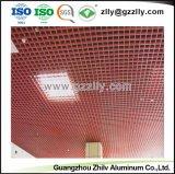 Aluminium de haute qualité de la calandre du panneau de plafond décoratif avec la norme ISO9001