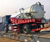 10 toneladas de las aguas residuales de la succión de carro de petrolero, carro del tanque de la succión de las aguas residuales 4X2