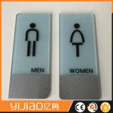 Signe acrylique de toilette du plus défunt modèle