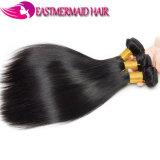 100%の人間の毛髪はヘアケア製品のStriaghtのインドのよこ糸を束ねる