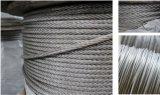 Cuerda de alambre de acero inoxidable 316 de AISI 304 7X7 1.5m m