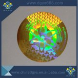 Emballage permanent fait sur commande d'étiquette de collant d'hologramme