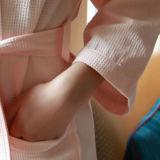 De klassieke Badjas van de Wafel van de Kimono voor Hotel/SPA/Medical/Home