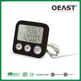 Termômetro do alimento do BBQ Digital da cozinha com ponta de prova e temporizador Ot5228b