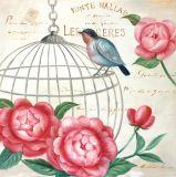 Neue Ankunfts-reiner handgemachter Wand-Dekor des reizenden Vogels auf Metallrahmen