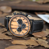 De Sporten Chronograph&#160 van mensen; Horloge Wooden met de Beweging van Japan