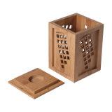 Retro ecológica de bambú carbonizado Caja de vino