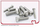 Aus rostfreiem Stahl Hex Kopf-Schraube DIN933 ANSI-volles Gewinde