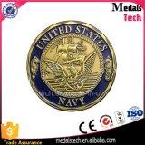 Pièce de monnaie BRITANNIQUE militaire personnalisée de Challengn d'or de Donald Trump en métal