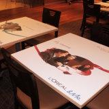 Zoll personifizierte Vinyldekoration-Aufkleber-Abziehbilder auf Spitzentisch