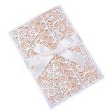 Corte láser hueco blanco compromiso Invitaciones de Boda Tarjeta de Invitación de boda