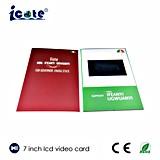 7 поздравительная открытка брошюры Card/LCD /LCD видео- брошюры карточки OEM дюйма видео- видео-/карточка подарка
