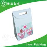 Sacos de portador de papel de empacotamento impressos da compra do presente do logotipo projeto feito sob encomenda