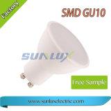 Lampadina dell'alluminio e di plastica GU10 3W 5W 6W SMD LED del riflettore