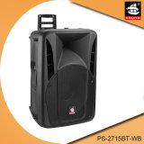 Nachladbarer beweglicher Lautsprecher mit drahtlosem Mic PS-2715bt-Wb