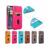 der iPhone Mappen-Kasten, ledern nehmen Deckel, Leder-rückseitigen Kasten mit Kreditkarte-Halter ab