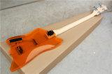 Hanhai 4 строк оранжевый электрическая бас-гитара с Акриловое стекло Органа