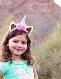 Lindo colorido Unicorn Pony a los niños en el oído de los animales de suministro de parte de diadema