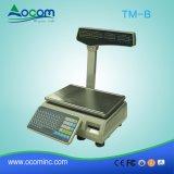 Nueva Electromic escala de la tasación del peso de la plataforma de TM-B con la impresora de la escritura de la etiqueta