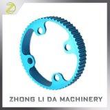 Anodizado azul personalizado de alta precisión de mecanizado CNC parte pieza de aluminio