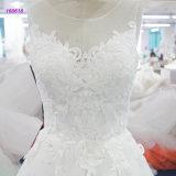 Лиф шнурка популярной конструкции 160618 безрукавный линия платье венчания