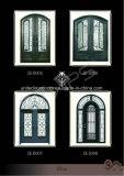 Sicherheit und dekorative bearbeitetes Eisen-doppelte Tür (UID-D067)