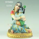 宗教マスコットのインドのPoojaのヒンズー教の神のKrishna Murtiの赤ん坊のKrishnaの彫像