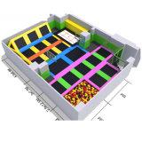 Самое лучшее высокое качество конструкции ягнится крытый супер парк Trampoline
