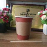 Taza de papel impresa insignia de encargo del café caliente del té