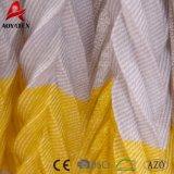 Super doux tricot de câble en peluche en zigzag multicolore de jeter de l'acrylique couverture avec Tassel