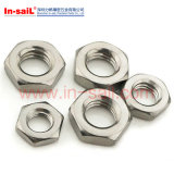 ISO8675 ISO4306 ISO4305 DIN439에 의하여 모서리를 깎아내는 육각형 약하게 견과