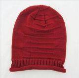 Beanie Slouchy mou de chapeau de crâne de chimio de Hip-Hop de chapeau ample unisexe de chimiothérapie de chapeau de femmes d'hommes (HW124)