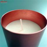 Jarra de cristal de oro por las velas de cera de soja