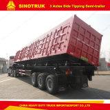 3 Alex Sinotruk Caixa de oscilação lateral hidráulico Construção Dumper
