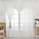 Tissu fin solide de toile de rideau en coton respirable en gros (18F0097)