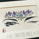 Etiqueta engomada cristalina del diamante de la gema de acrílico adhesiva de la etiqueta engomada de la piel del ojo del brillo de Bling (S007)