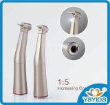 Dental Handpiece Contra Angle basse vitesse 1 : 5 à fibre optique
