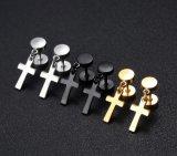De zwarte Nagel van de Oorringen van de Domoor Barbell Dwars voor het Roestvrij staal van de Vrouwen van Mannen Tweezijdige het Doordringen van de Oorring Juwelen