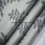 2018 La feuille de vente chaude gris Salle de tissu de polyester Tissu Rideau