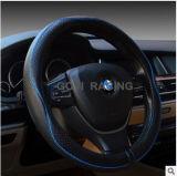 Coperchio universale del volante dell'automobile del nero del cuoio genuino
