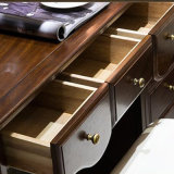 2017寝室の家具(AS822)のための最新のデザイン純木のドレッサー