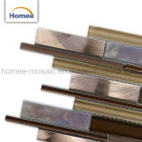 Venta caliente diseño hermoso mosaico de vidrio mezcla de aluminio