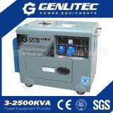 Генератор участка 5kw Singel звукоизоляционный портативный тепловозный