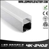 Perfil de alumínio do diodo emissor de luz da extrusão da luz do pendente do diodo emissor de luz de 4240 canaletas