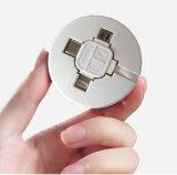 Heißes Verkaufs-langlebiges Gut 3 in 1 einziehbarem USB-aufladenkabel für IOS Android und Typen-c