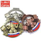 Barato Metal personalizada personalizada 3D a cores antigo Plating Medalha Animal