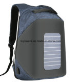 Anti-roubo impermeável Anti cortar a energia solar Backpack
