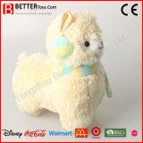 견면 벨벳 박제 동물 양 아기 아이를 위한 연약한 알파카 장난감