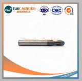 Los molinos de extremo de carburo de tungsteno para uso de la máquina CNC