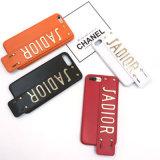 Caixa luxuosa do telefone de pilha do couro do metal do Occident para iPhone6/7/8/X/8plus